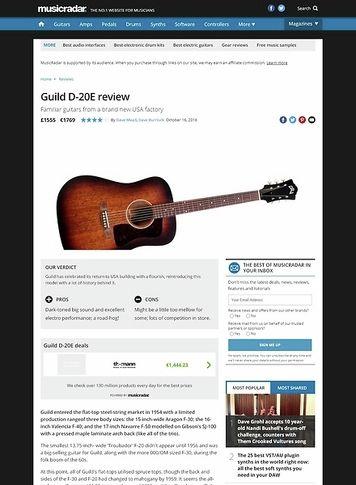MusicRadar.com Guild D-20E