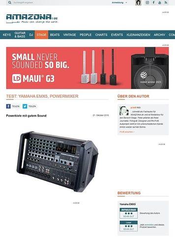 Amazona.de Test: Yamaha EMX5, Powermixer