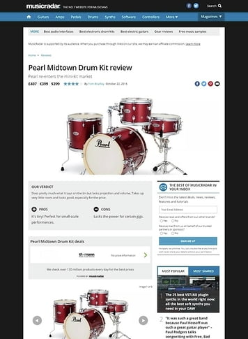 MusicRadar.com Pearl Midtown Drum Kit