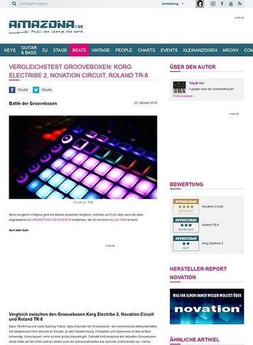 Amazona.de Vergleichstest Grooveboxen: Korg electribe, Novation Circuit, Roland TR-8