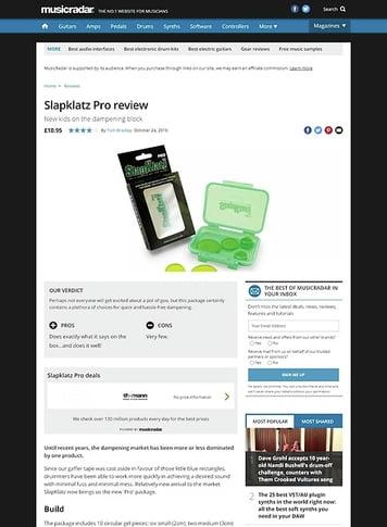 MusicRadar.com Slapklatz Pro