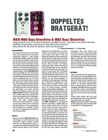 Gitarre & Bass MXR M89 Bass Overdrive & M85 Bass Distortion