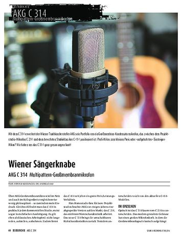 Sound & Recording AKG C 314 - Multipattern-Großmembranmikrofon