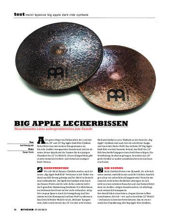 Sticks Meinl Byzance Big Apple Dark Ride Cymbals
