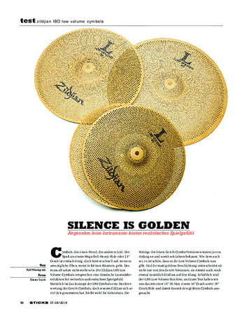 Sticks Zildjian l80 Low Volume Cymbals