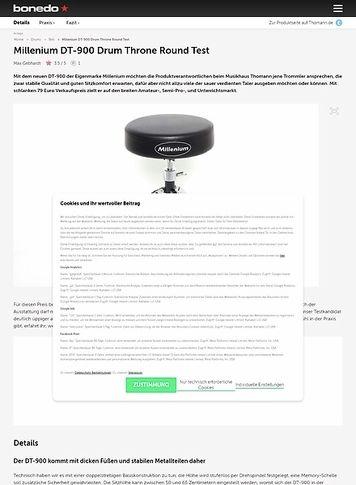 Bonedo.de Millenium DT-900 Drum Throne Round