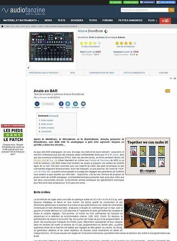 Audiofanzine.com Arturia DrumBrute