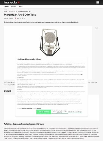 Bonedo.de Marantz MPM-3000