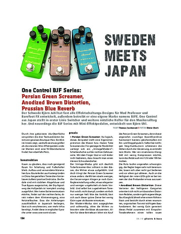 Gitarre & Bass One Control BJF Series, FX-Pedale
