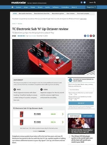 MusicRadar.com TC Electronic Sub 'N' Up Octaver