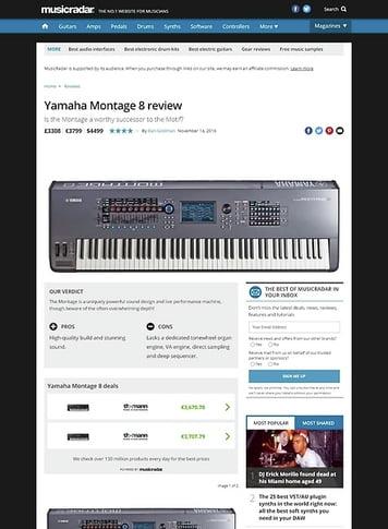 Yamaha Montage 8 – Thomann UK
