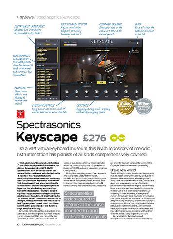 Computer Music Spectrasonics Keyscape