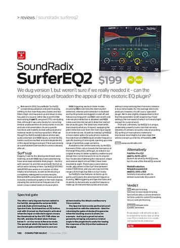 Computer Music SoundRadix SurferEQ2