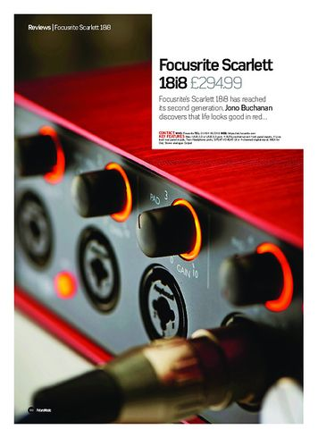 Future Music Focusrite Scarlett 18i8 2nd Gen
