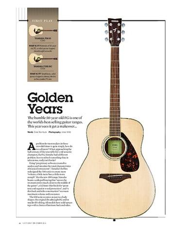 Guitarist Yamaha FG830