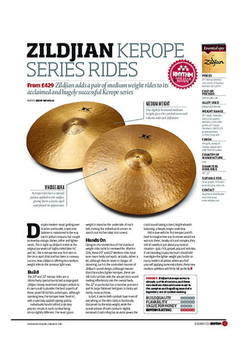 Rhythm Zildjian Kerope Series Rides