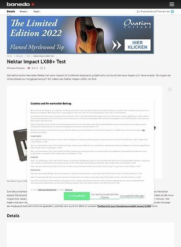 Bonedo.de Nektar Impact LX88+