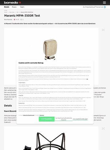 Bonedo.de Marantz MPM-3500R