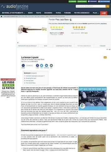 Audiofanzine.com Fender Flea Jazz Bass