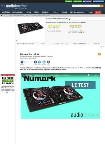 Audiofanzine.com Numark Mixtrack Platinum
