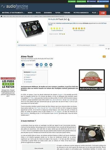 Audiofanzine.com M-Audio M-Track 2x2