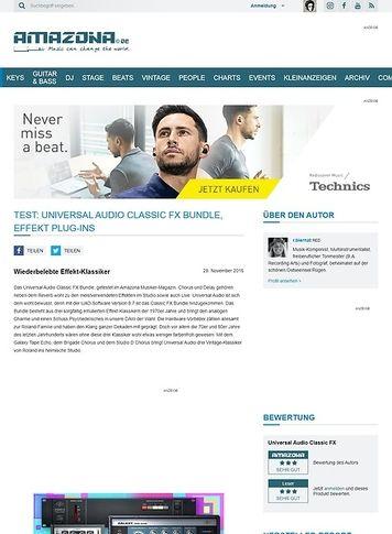 Amazona.de Universal Audio Classic FX Bundle