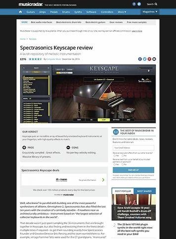 MusicRadar.com Spectrasonics Keyscape