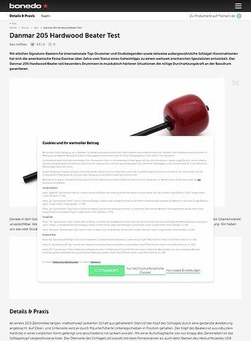 Bonedo.de Danmar 205 Hardwood Beater