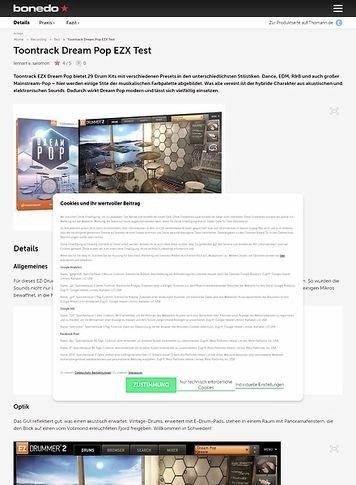Bonedo.de Toontrack Dream Pop EZX