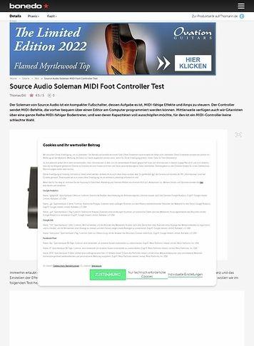 Bonedo.de Source Audio Soleman MIDI Foot Controller