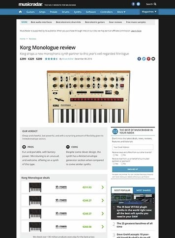MusicRadar.com Korg Monologue