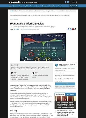 MusicRadar.com SoundRadix SurferEQ2