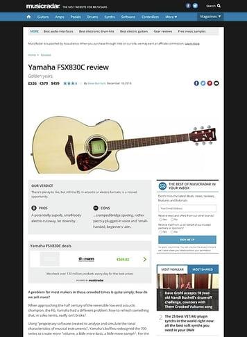 MusicRadar.com Yamaha FSX830C