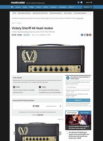 MusicRadar.com Victory Sheriff 44 Head