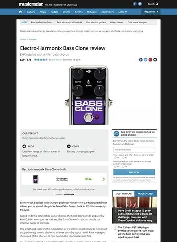 MusicRadar.com Electro-Harmonix Bass Clone