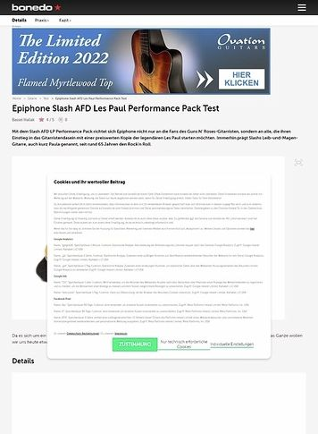Bonedo.de Epiphone Slash AFD Les Paul Performance Pack