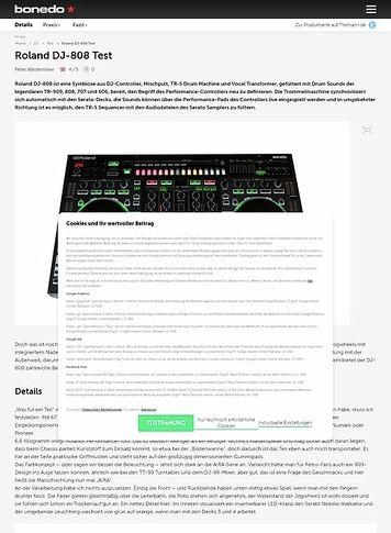 Bonedo.de Roland DJ-808