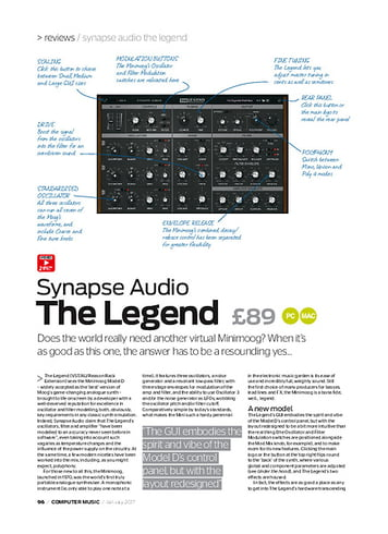 Computer Music Synapse Audio The Legend