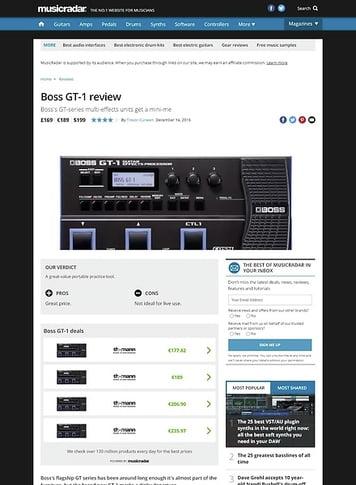 MusicRadar.com Boss GT-1