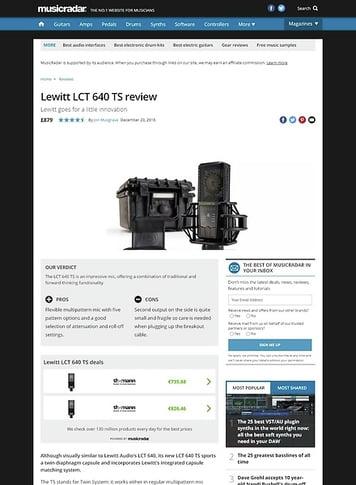 MusicRadar.com Lewitt LCT 640 TS