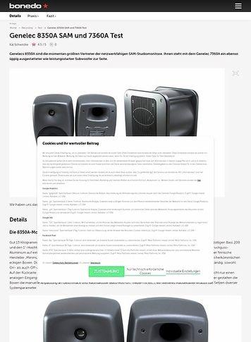 Bonedo.de Genelec 8350A SAM und 7360A