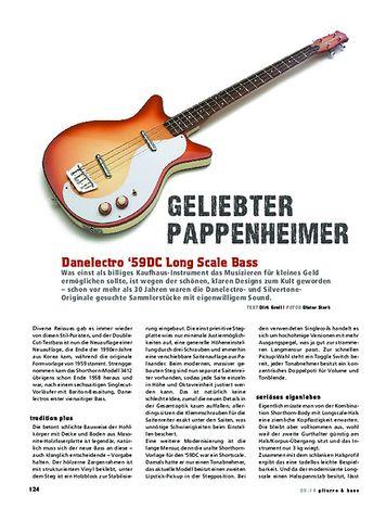 Gitarre & Bass Danelectro '59DC Long Scale Bass