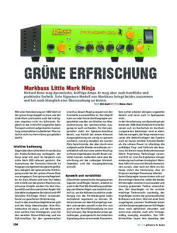 Gitarre & Bass Markbass Little Mark Ninja
