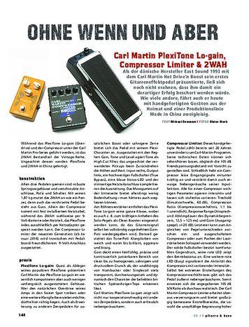 Gitarre & Bass Carl Martin PlexiTone Lo-gain, Compressor Limiter & 2WAH