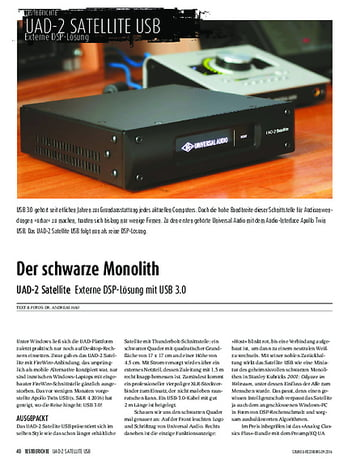 Sound & Recording UAD-2 Satellite Externe DSP-Lösung mit USB 3.0