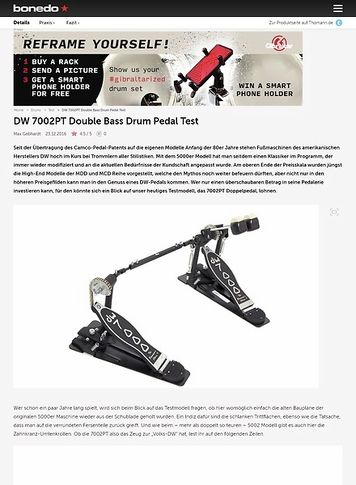 Bonedo.de DW 7002PT Double Bass Drum Pedal