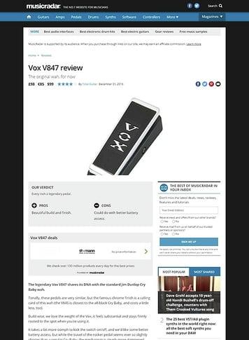 MusicRadar.com Vox V847