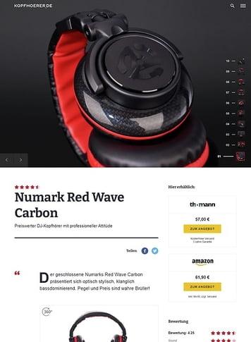 Kopfhoerer.de Numark Red Wave Carbon