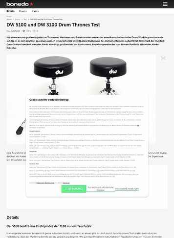 Bonedo.de DW 5100 und DW 3100 Drum Thrones