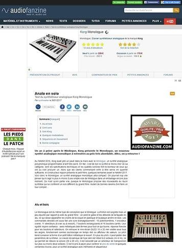 Audiofanzine.com Korg Monologue